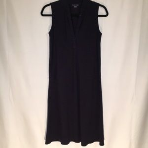 EILEEN FISHER | XXS | NAVY SLEEVELESS DRESS